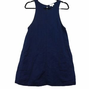 Wilfred XS linen navy sleeveless dress